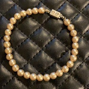 Antique Art Deco Faux Pearl Gatsby Bracelet